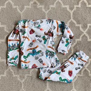 NWT AT Home Pajamas 'knights' print